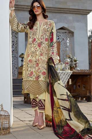 Asifa Nabeel Luxury Lawn Unstitched 3 Piece Suit ANL20-33-S – Summer Collection