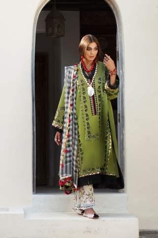 Elan Luxury Lawn Unstitched 3 Piece Suit ELL20 15 B JOHARI - Lawn Collection