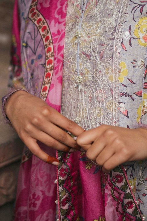 Zara Shahjahan Luxury Embroidered Lawn Unstitched 3 Piece Suit ZSL20 MAHIN-B – Summer Collection