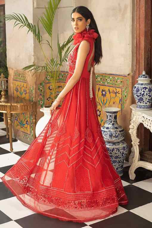 Mushq Embroidered Chiffon Unstitched 3 Piece Suit MQFC20 10 SCARLET SYMPHONY – Luxury Collection