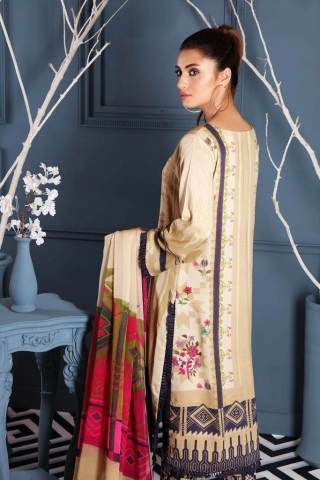 Charizma Embroidered Linen Unstitched 3 Piece Suit CCWL20 09 - Winter Collection
