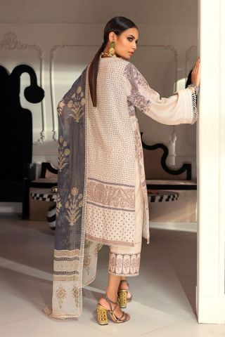 Muzlin by Sana Safinaz Linen Unstitched 2 Piece Suit MWSS20 08B –  Winter Collection