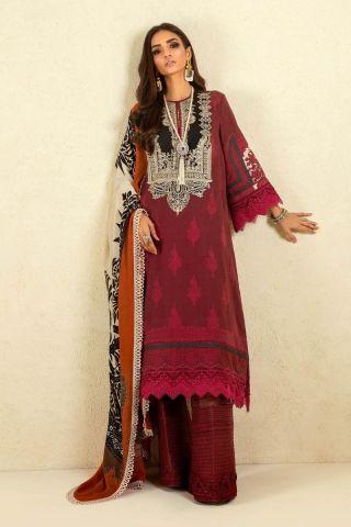 Muzlin by Sana Safinaz Cotton Satin Unstitched 3 Piece Suit MWSS20 10A - Winter Collection