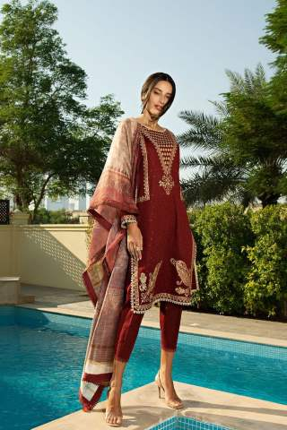 Sobia Nazir Khaddar Unstitched 3 Piece Suit SNWC20 04A - Winter Collection