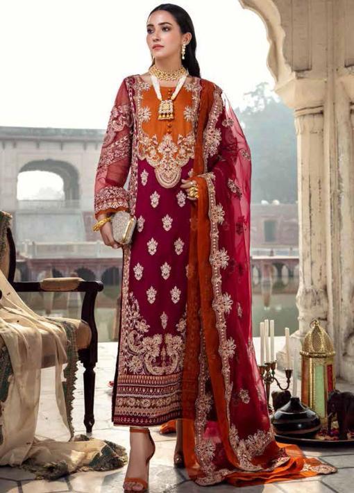 Dastan-e-Jashan By Charizma Embroidered Chiffon Unstitched 3 Piece Suit D 04 Jahanara – Luxury Collection