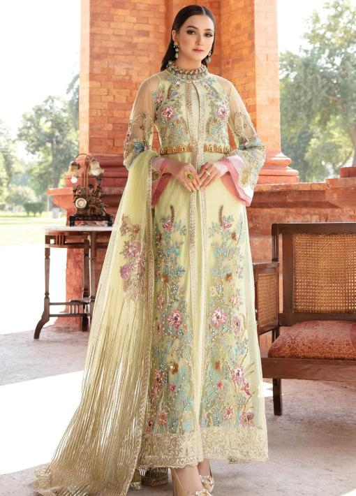 Regence by Imrozia Embroidered Net Unstitched 3 Piece Suit I-121 REVASSER – Wedding Collection