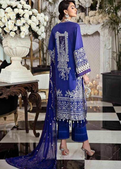 Sana Safinaz Embroidered Slub Lawn Unstitched 3 Piece Suit 07-B – Summer Collection