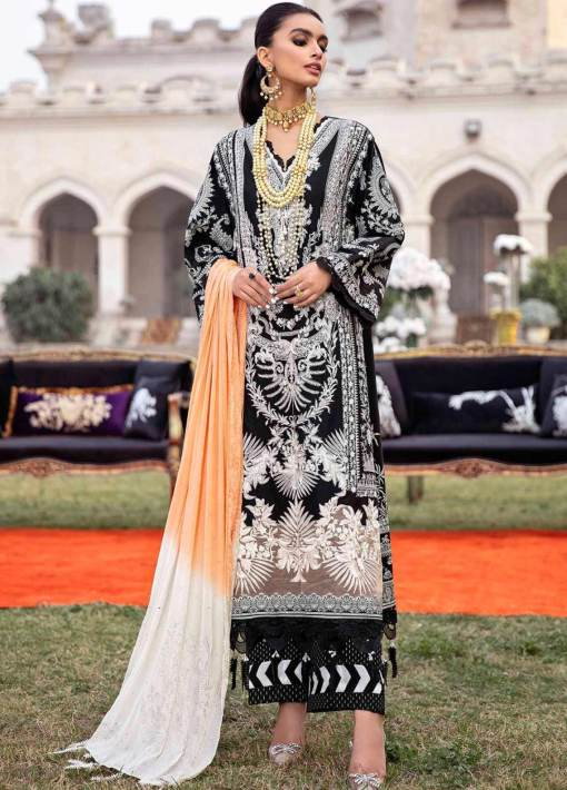 Sana Safinaz Embroidered Lawn Unstitched 3 Piece Suit 14-A – Summer Collection