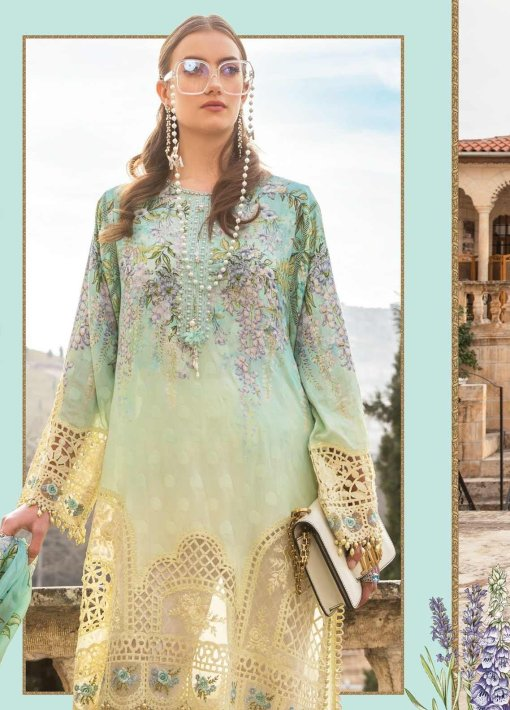 Maria B Embroidered Lawn Unstitched 3 Piece Suit 06 A – Summer Collection