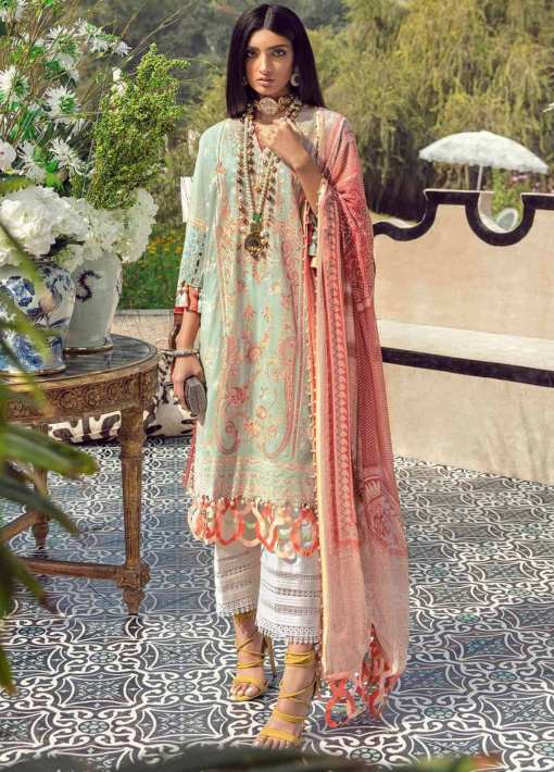 Muzlin by Sana Safinaz Embroidered Lawn Unstitched 3 Piece Suit 03B – Summer Collection