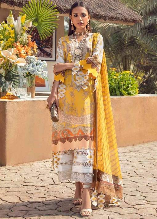 Muzlin by Sana Safinaz Embroidered Lawn Unstitched 2 Piece Suit 22A – Summer Collection