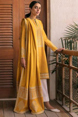 Zaha by Khadijah Shah Embroidered Lawn Unstitched 3 Piece Suit 08-B – Summer Collection