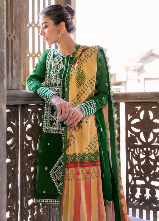 Zaha by Khadijah Shah Embroidered Lawn Unstitched 3 Piece Suit 11-B – Summer Collection