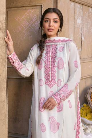Zaha by Khadijah Shah Embroidered Lawn Unstitched 3 Piece Suit 15-A – Summer Collection