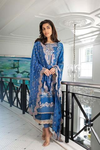 Sobia Nazir Embroidered Luxury Lawn Unstitched 3 Piece Suit 06A – Summer Collection