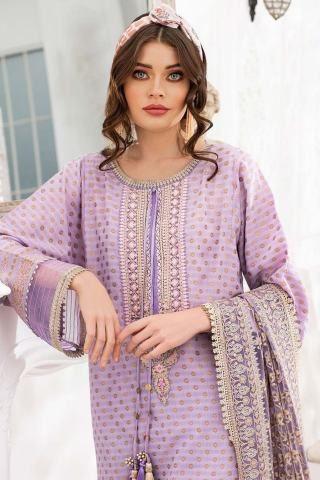 Sobia Nazir Embroidered Luxury Jacquard Unstitched 3 Piece Suit 08B – Summer Collection