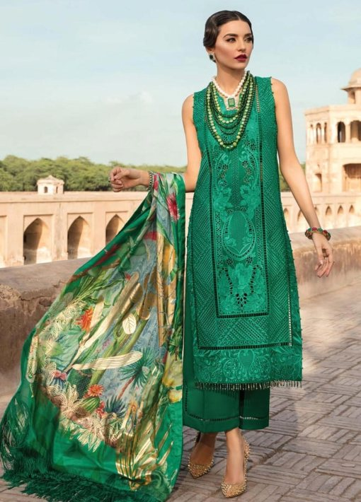 Crimson by Saira Shakira Embroidered Lawn Unstitched 3 Piece Suit D2A EMERALD – Luxury Collection