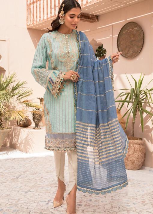 Maria B Embroidered Eid Jacquard Unstitched 3 Piece Suit D-07 – Festive Collection