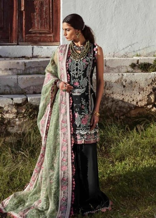 Selene By Republic WomensWear Embroidered Luxury Lawn Unstitched 3 Piece Suit 10A Aydin – Summer Collection