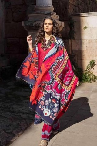 Selene By Republic WomensWear Embroidered Luxury Lawn Unstitched 3 Piece Suit 09B Emel – Summer Collection