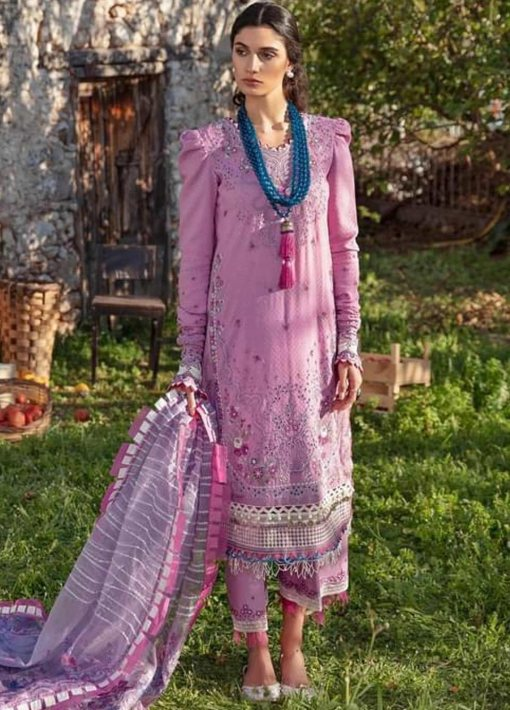 Selene By Republic WomensWear Embroidered Luxury Lawn Unstitched 3 Piece Suit 08B Rinaz – Summer Collection