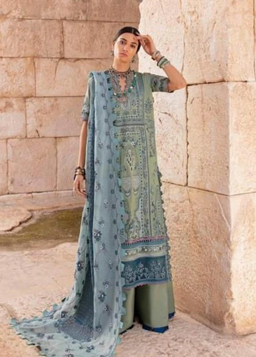 Selene By Republic WomensWear Embroidered Luxury Lawn Unstitched 3 Piece Suit 03B Shahwar – Summer Collection