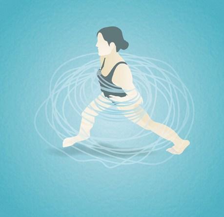 Ausübung von Aqua-Fitness