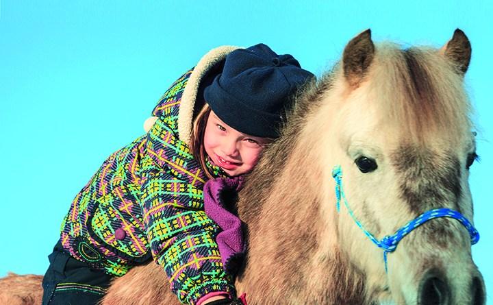 Tiergeschützte Therapie - Kind auf einem Pferd