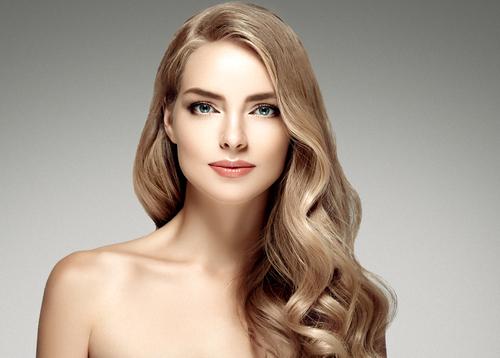 Frau mit schöne Haare