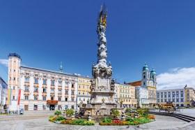 Hauptplatz von Linz. Donauradweg