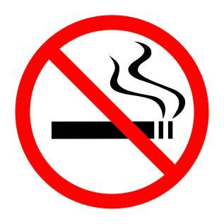 Rauchverbot-Zeichen. Durchgestrichene Zigarette. schöne Haarpracht