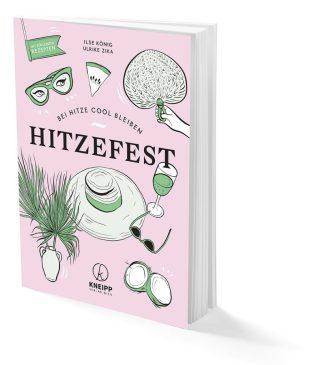 Buch. Hitzefest - Bei Hitze cool bleiben Cover auf weißem Hintergrund. Büchertipps