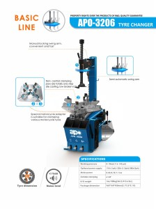 APO-3206 Semi-Automatic Swing Arm Tire Changer