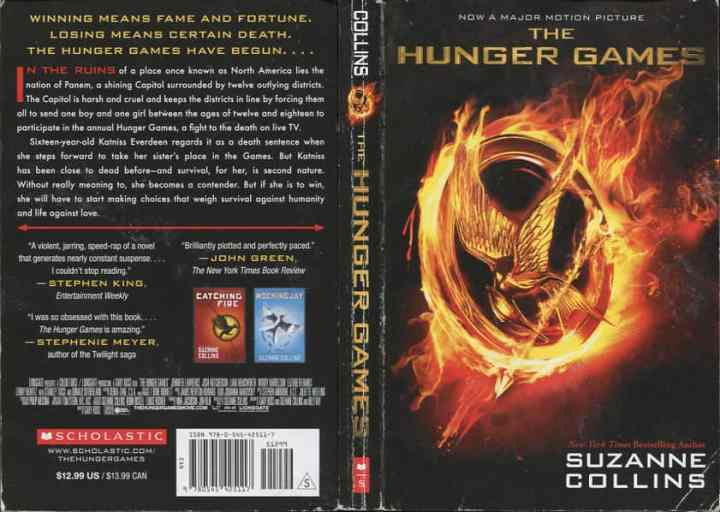 hunger games book cover front and back | gamexcontrol.co