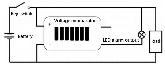 LM741 Op Amp Circuit: Low Battery Alarm