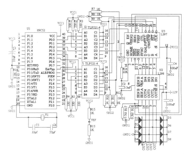 L297 L298 Circuit: Stepper Motor Controller