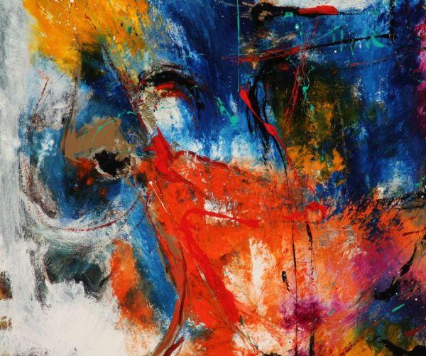 Danish Artist Eli Large Abstract Painting Art