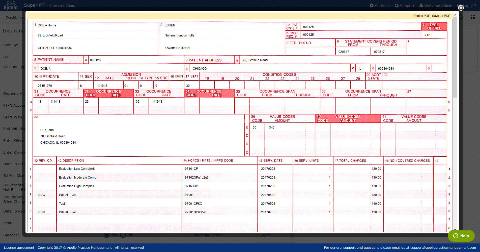 Physical Therapy Billing Software