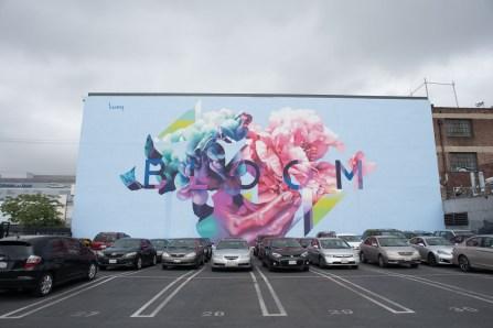 """Bloom"" by Hueman   Arts District, Los Angeles, CA   May 2017"