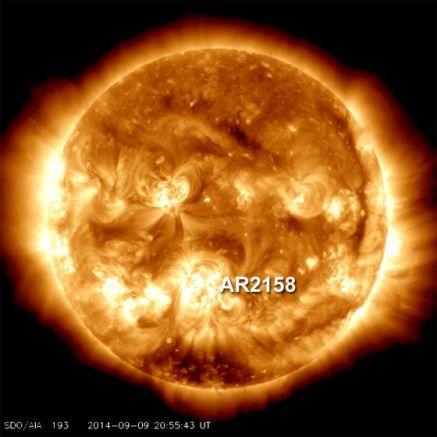 mancha solar AR2158