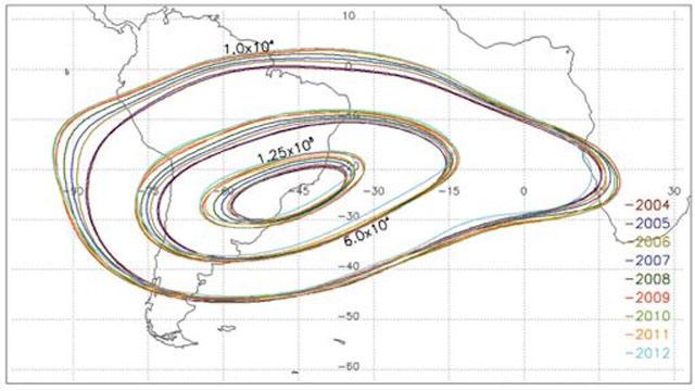 Mapa da Anomalia Magnetica do Atlantico Sul