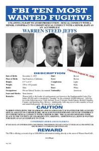 Warren Jeffs FBI Wanted Poster