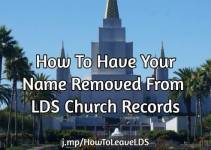 How to resign from the LDS Church