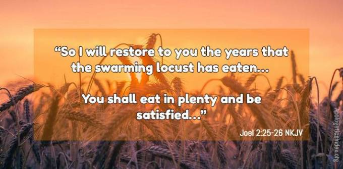 God will restore to you