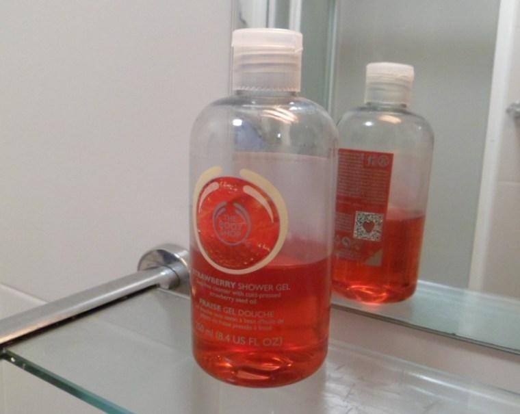 fraise gel douche