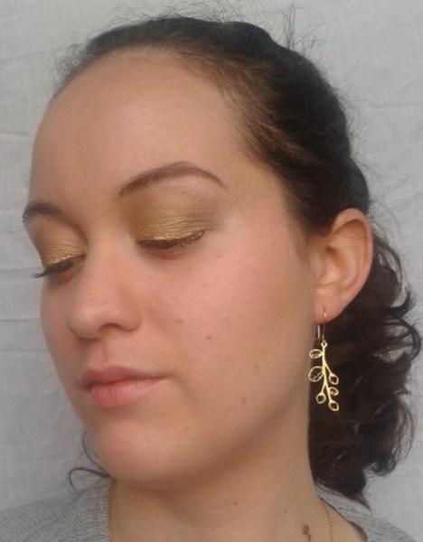réveillon doré vert maquillage
