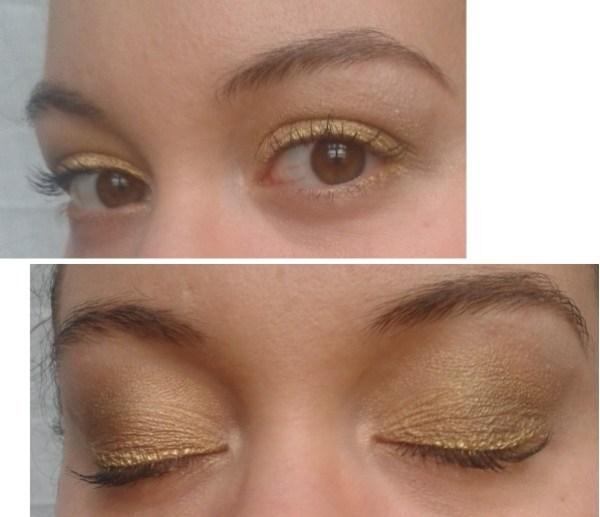 yeux MAC réveillon doré vert