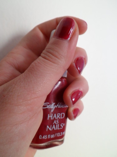 vernis sally hansen red hot