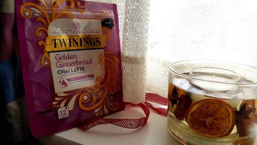 golden gingerbread chai latte