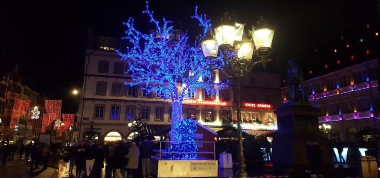 arbre bleu noel